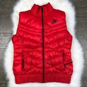 NIKE TECH • Red Warm Puffer Vest ✨